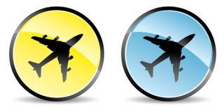 Airplane icon Stock Image
