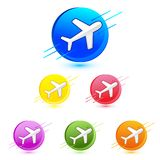 Airplane Icon Royalty Free Stock Photo