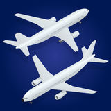 Airplane icon. Flat 3d isometric high quality. Airplane. Flat 3d isometric high quality transport - passenger plane Royalty Free Stock Photo
