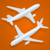 Airplane icon. Flat 3d isometric high quality transport - passenger plane . Airplane. Flat 3d isometric high quality transport - passenger plane Royalty Free Stock Photo