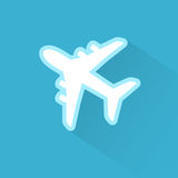Airplane Icon Flat Minimal Vector Silhouette Royalty Free Stock Photography