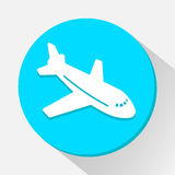 Airplane icon great for any use. Vector EPS10. Stock Photo