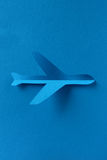 Airplane icon paper cut Royalty Free Stock Photos