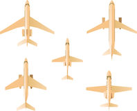 Airplane icon set vector illustration