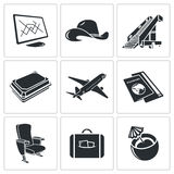 Airplane icon set Royalty Free Stock Photo