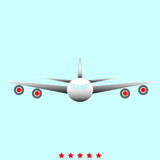 Airplane  it is icon . Simple style Royalty Free Stock Photography