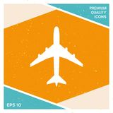 Airplane icon symbol. Element for your design Stock Photo