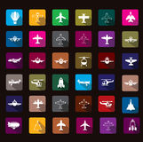Airplane icon Royalty Free Stock Photos