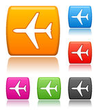 Airplane Icons Royalty Free Stock Photo