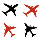 Airplane icons Stock Photos
