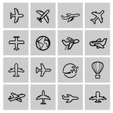 Airplane icons Royalty Free Stock Photos