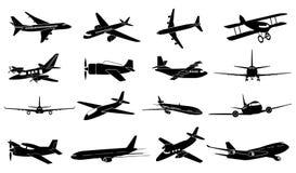 Airplane icons set Stock Photo