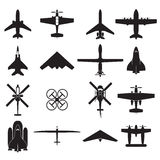 airplane icons set Stock Image