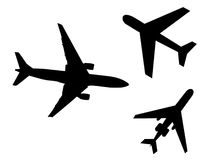Airplane Icons Stock Image
