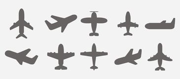 Airplane icons vector. Airplane icons set vector illustration stock illustration