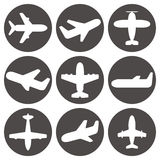 Airplane icons vector Royalty Free Stock Photography