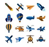 Airplane icons Stock Images