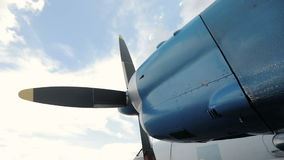Airplane ignition and propeller. Jet engine. Detail of jet engine. stock video