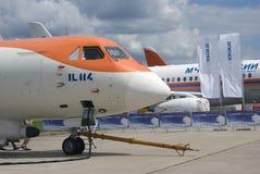 Airplane IL114 at MAKS International Aerospace Salon MAKS-2017 Royalty Free Stock Photography
