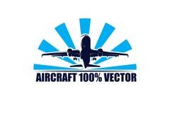 Aircraft vector illustration or logo stock illustration