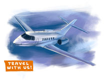 Airplane illustration Stock Photography