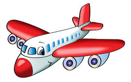 Airplane illustration Stock Photos
