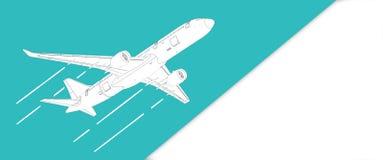 Airplane illustration Stock Photos