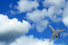 Airplane In Sky Royalty Free Stock Photo