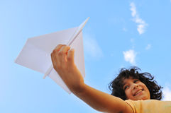 Free Airplane In The Hand Of Child Royalty Free Stock Image - 10824326