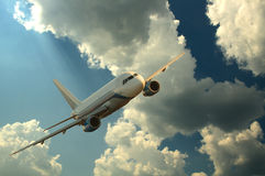 Airplane In The Storm Sky Royalty Free Stock Photo