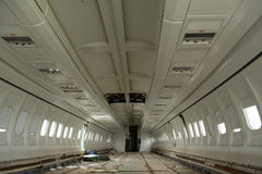 Airplane inside after crash Royalty Free Stock Images