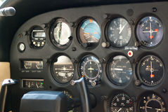 Airplane Instrument Panel Royalty Free Stock Images
