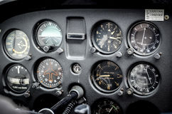 Airplane instruments stock image
