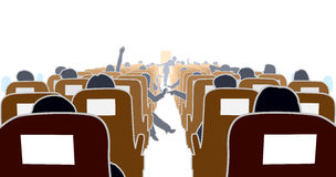 Airplane interior Royalty Free Stock Images