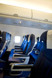 Airplane Interior Royalty Free Stock Photo