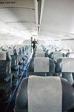 Airplane interior Royalty Free Stock Image