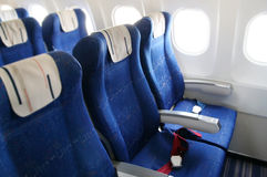 Airplane interior Royalty Free Stock Photography