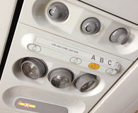Airplane interior - Airbus A320 Stock Images