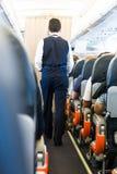 Airplane interior. Royalty Free Stock Photos