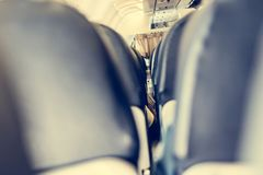 Airplane interior. Royalty Free Stock Photos