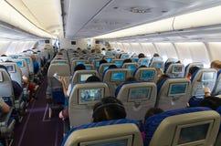 Airplane interior Stock Images