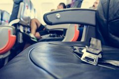 Airplane interior. Stock Image