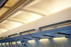 Airplane interior detail. Stock Photography