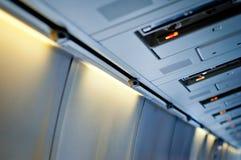 Airplane interior detail. Royalty Free Stock Photo