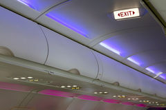 Free Airplane Interior Lighting And Signs Royalty Free Stock Image - 32648586