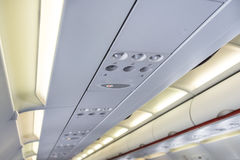 Airplane Interior Overhead Royalty Free Stock Photo