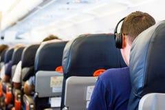 Airplane interior. Royalty Free Stock Image