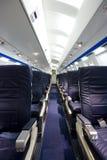 Airplane interior Royalty Free Stock Image
