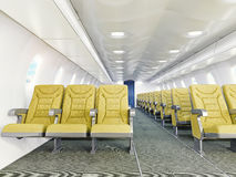 Airplane interior vector illustration