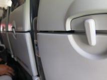 Airplane interior, seats Royalty Free Stock Photos